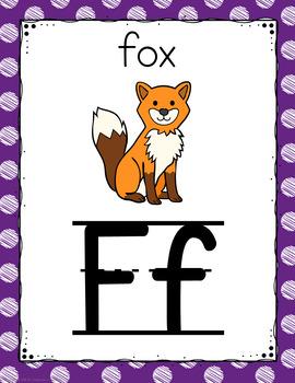 Polka Dot Alphabet Posters (Scribble Polka Dot)-Classroom Decor