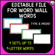 Large Alphabet with Matching Picture Headers for Word Wall!