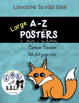 Large Animal Alphabet Posters