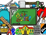 Large Back to School Essentials Pack - 41 piece set (The ClipArt Hub)