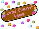 Large Basket Labels Dots on Chocolate