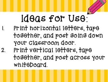 """Print a Large """"Bienvenidos"""" Poster - Welcome Classroom Sign, Spanish Decor"""
