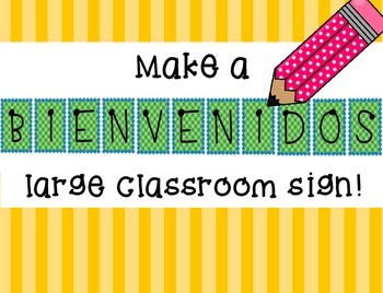 "Print a Large ""Bienvenidos"" Poster - Welcome Classroom Sign, Spanish Decor"