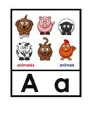 Large Bilingual English/Spanish Alphabet Cards