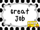 Large Black and White Back to School themed Behavior Clip Chart-7 Cards