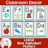 Large Blue Wall Alphabet