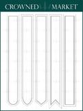 Large Bookmark Set - 22 Colors