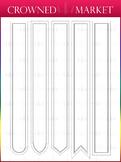 Large Bookmark Set - Dark Colors