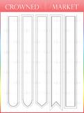 Large Bookmark Set - Light Colors
