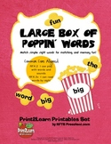 Large Box of Poppin Words {Common Core Aligned}