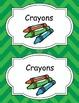 Large Bright Chevron Classroom Labels *Multi-colored*