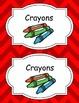 Large Bright Chevron Label Set *RED*
