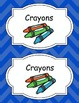 Large Bright Chevron Labels *BLUE*