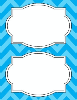 Large Bright Chevron Labels *LIGHT BLUE*