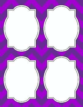 Large Bright Chevron Labels *PURPLE*
