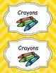Large Bright Chevron Labels *YELLOW*