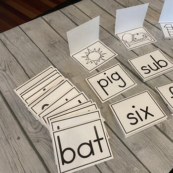 Large CVC Word Cards (Read, Flip, & Check) 38 Cards