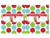 Large Candy Bar Wrapper - Hershey Wrapper - Santa Candy Wrapper