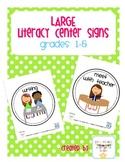 Large Center Signs: grades 1-5
