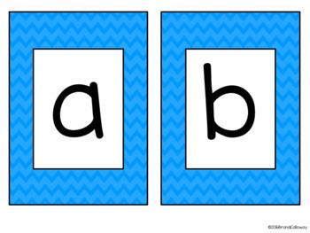 Chevron Alphabet Cards LARGE
