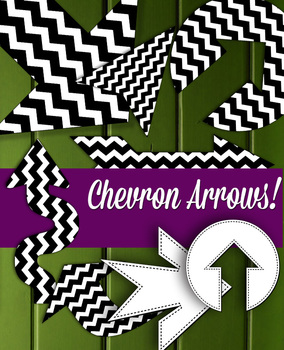 "Large Chevron Arrow • 40 Shapes • 8 – 10"" Wide Clip Art Digital Stamp • 300 DPI"