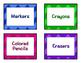Large Chevron Multicolor Label Set