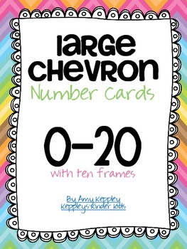 Large Chevron Number Cards 0-20