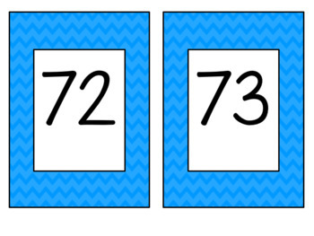 Chevron Number Cards LARGE