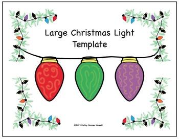 Large Christmas Light Template
