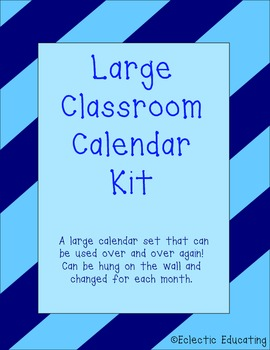 Large Classroom Calendar Kit