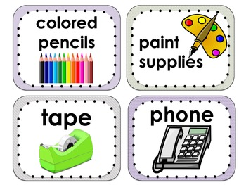 Large Classroom Labels