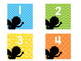 Large Classroom Number Labels-Superhero Rainbow Silhouette