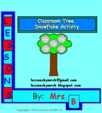 Large Classroom Tree snowflake activity