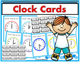 Large Clock Cards (Hour and Half Hour) for Calendar Time or Math