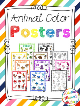 Large Color Animal Posters