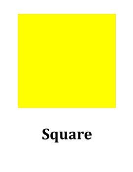 Large Color Shapes Printable! 14 Shapes!