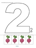 Vegetables Counting Cut and Paste Activity Center