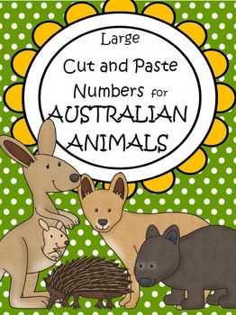 Australian Animals Numbers Cut and Paste