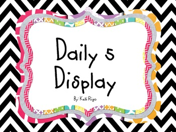 Large Daily 5 Display
