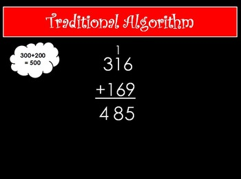 Large Digit Addition Strategies Powerpoint