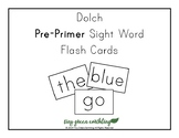 Large Dolch Pre-Primer Sight Words Flash Card Printable