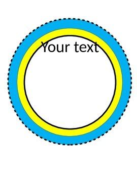 Large Editable Circle Frames