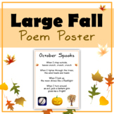 Large Fall & Halloween Poem Poster (Four Pages)