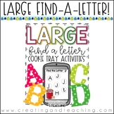 Large Find a Letter Cookie Tray Activities