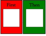Large First/Then Visual Aid Board for Sequencing or Visual Schedules