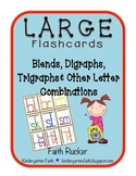 Large Flashcards Blends, Digraphs, Trigraphs and More (Blank)