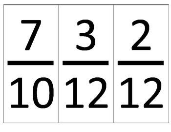 Large Fraction Cards