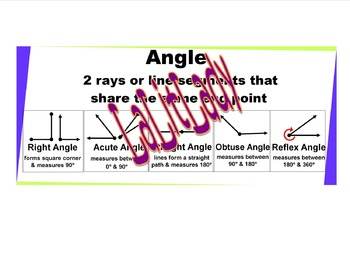 3 Large Sized Geometry Posters Classroom Wall: Angles, Polygons, Triangles