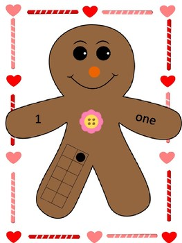 Large Gingerbread Counting Cards