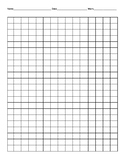 Large Grid Paper- name, date, work